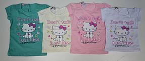 Нарядная футболка для девочек 86,92,104 роста Кошечка-принцеса, фото 3