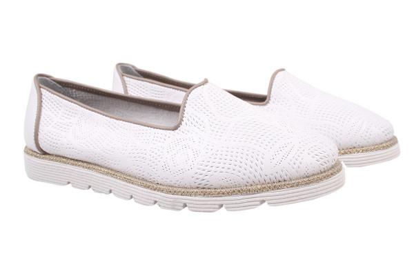 Туфли комфорт Tucino натуральная кожа, цвет белый (37р.)