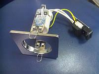 Светильник точечный квадратный матовый хром BRILUM S50S