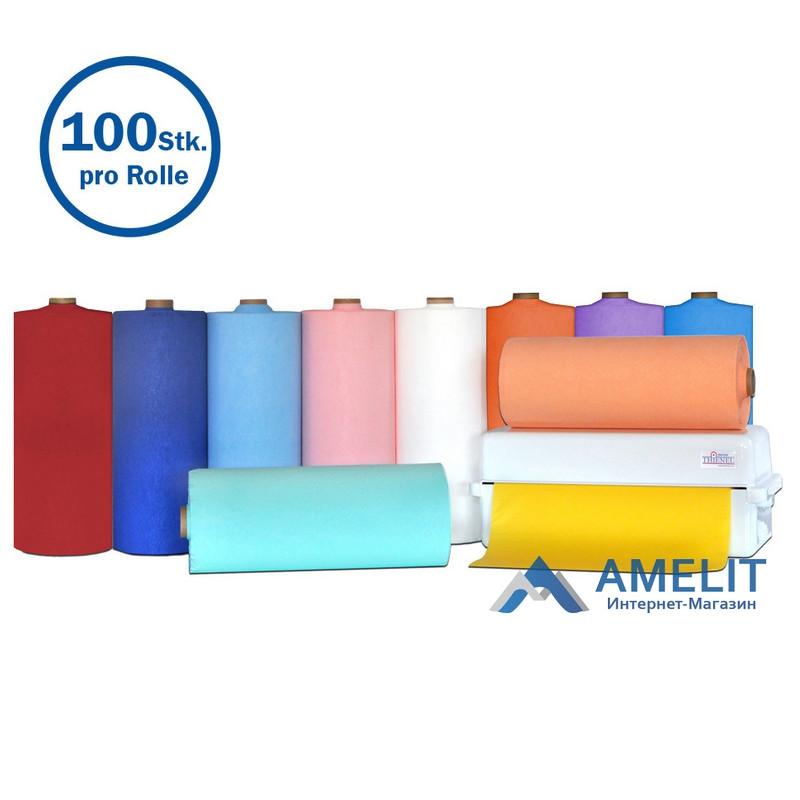 Чохли для підголівників стоматологічні, 27х28см, помаранчеві, №50430 (Thienel Dental), 100 шт./рулон
