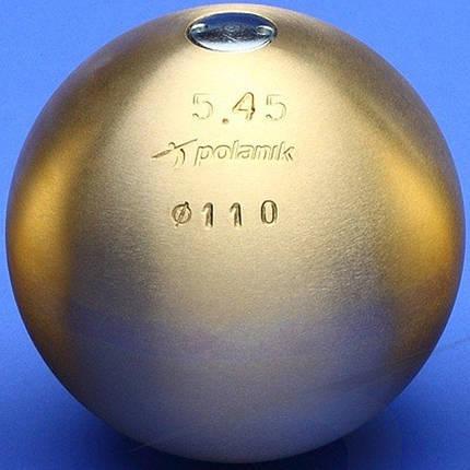 Ядро соревновательное Polanik Brass 5,45 кг, код: PK-5,45/110-M, фото 2