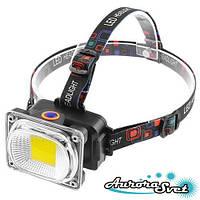 Ліхтарик світлодіодний на лоб + ручний. LED ліхтарик. Світлодіодний ліхтар.