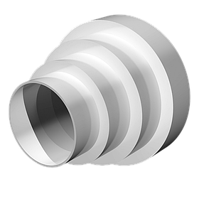 Переходник универсальный Эра круглый для труб 150/125/100/80 мм (60-198)
