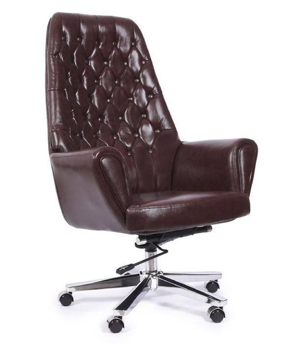 Кресло STYLE черное/коричневое