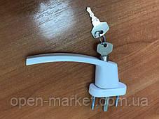 Ручка c ключом, замком, защита на окно от детей MEDOS, Польша, фото 3