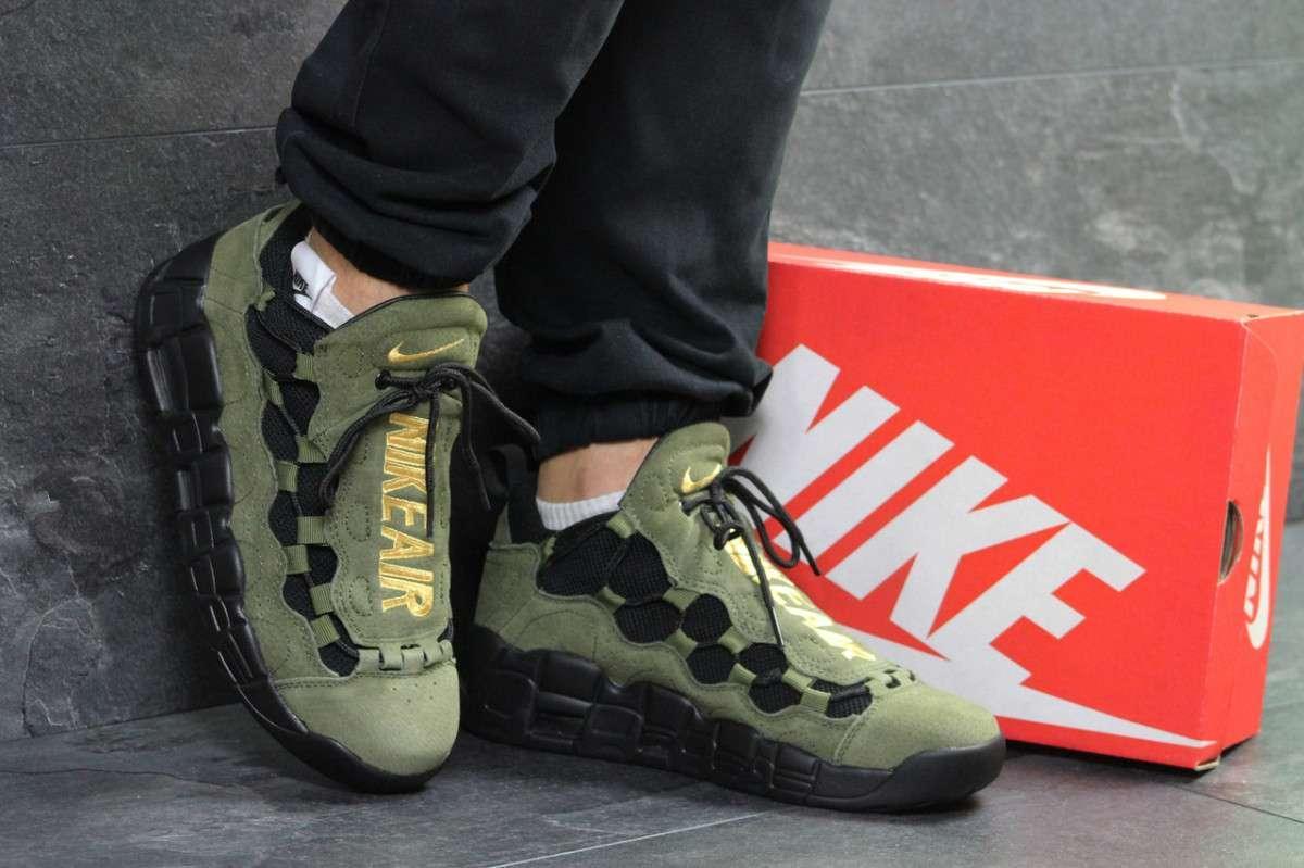 592f335d Мужские кроссовки темно зеленые Nike Air Uptempo 96 6715 купить в ...