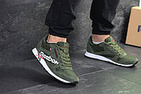 Мужские кроссовки темно зеленые Reebok 7554