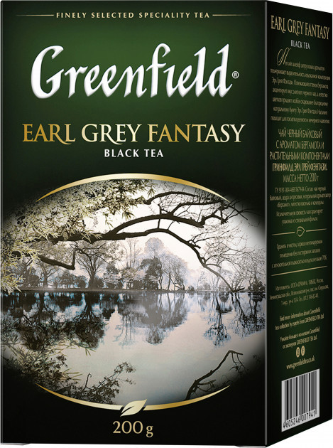 Чай черный с бергамотом Greenfield Earl Grey Fantasy 200 гр.