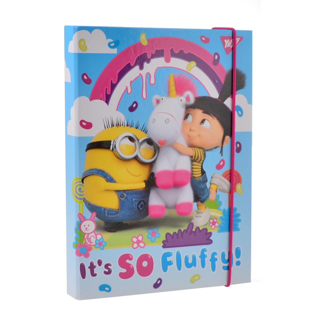 """Папка для тетрадей картонная В5 """"Minions Fluffy"""""""