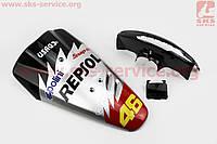 Honda DIO AF-27 пластик - к-кт крашеные 5 деталей, TUNING