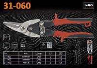 Ножницы по металлу левые 250мм., NEO 31-060