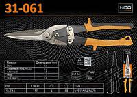 Ножницы по металлу прямые 290мм., NEO 31-061, фото 1