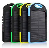 Внешний аккумулятор на солнечной батарее - Solar charger 5000 mAh (разные цвета)
