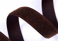 Текстильная застежка (липучка) ширина 50 мм цвет коричневый