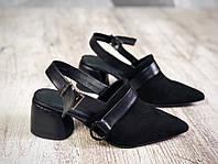 Женские замшевые туфли Luxuri elite на очень удобном каблуке, фото 1