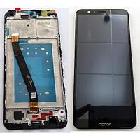 Дисплей Huawei Honor 7X Dual Sim (BND-L21) с тачскрином и рамкой черный Оригинал