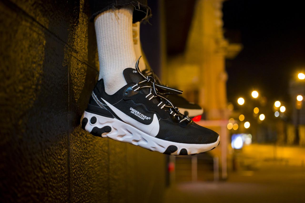 Мужские кроссовки Nike React Element 87 x Undercover Black White ( Реплика ) 44 размер