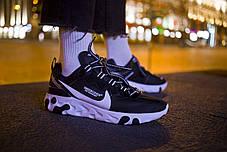 Мужские кроссовки Nike React Element 87 x Undercover Black White ( Реплика ) 44 размер, фото 3