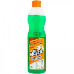 Жидкость для мытья стекла Мистер Мускул без распылителя 500мл