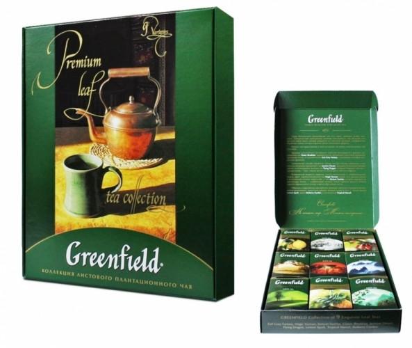 Чайный набор листового чая Greenfield Ассорти 390 гр.