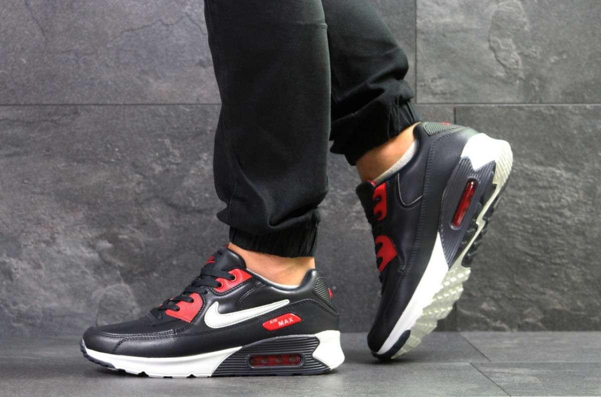 f2bd0c0d Мужские кроссовки темно синие с белым и красным Nike Air Max 7037 ...