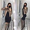 Кожаная куртка-косуха на подкладке, фото 3