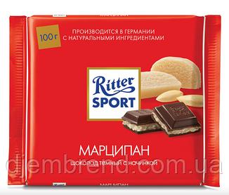 Шоколад Ritter Sport Риттер спорт с марципаном, 100 г. Германия