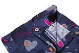 Шорти для дівчинки коттон SmileTime Hearts, джинс, фото 2