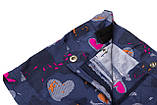 Шорты для девочки коттон SmileTime Hearts, джинс, фото 2