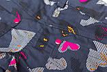 Шорти для дівчинки коттон SmileTime Hearts, джинс, фото 5