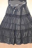 Женская юбка с подъюбником  и гипюром ботал в расцветках