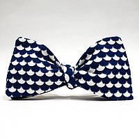 Галстук-бабочка KRAGO White Waves Сине-белый KRG-00502, КОД: 186992