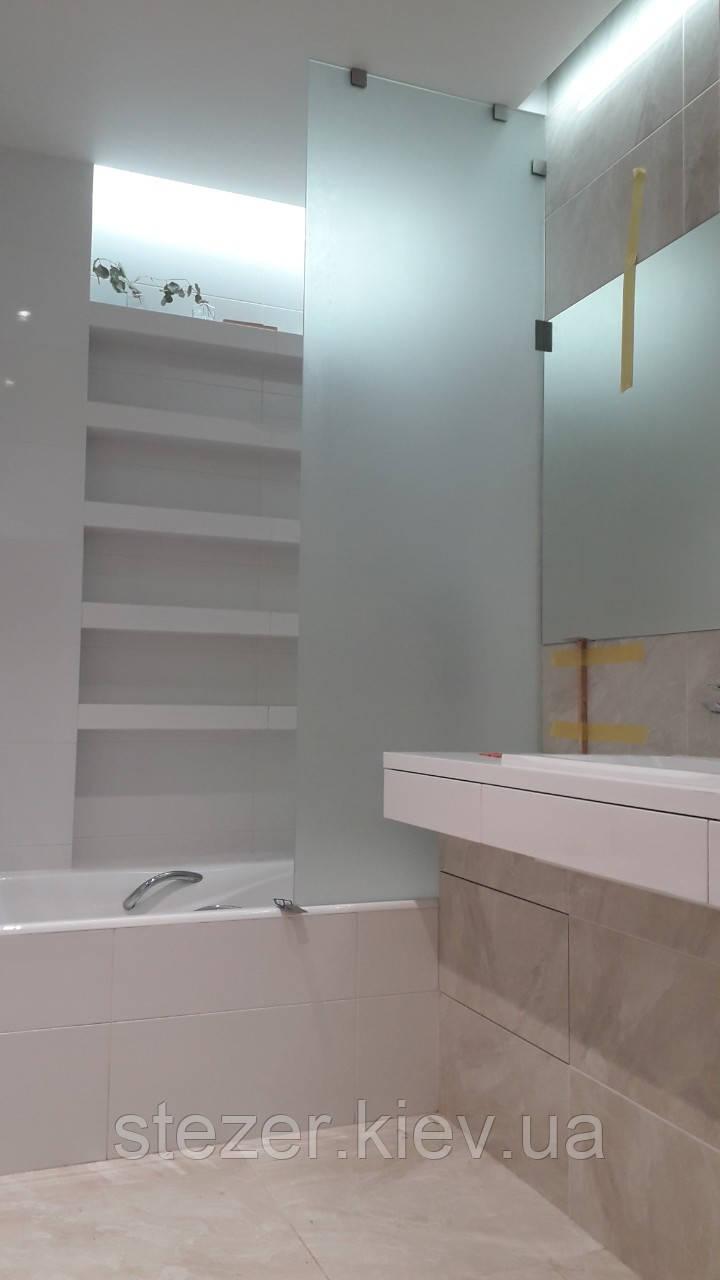 Стеклянная перегородка на ванную под заказ