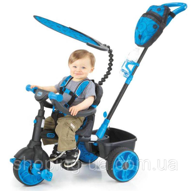 Трехколесный велосипед 4 в 1 голубой Trike Deluxe Edition Little Tikes 634338