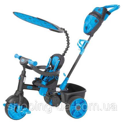 Трехколесный велосипед 4 в 1 голубой Trike Deluxe Edition Little Tikes 634338, фото 2