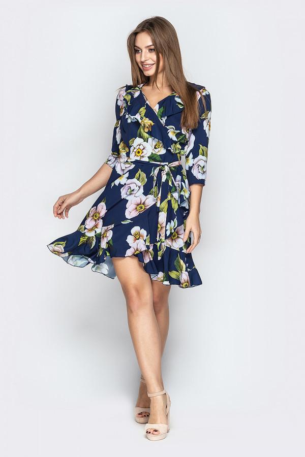 Платье на запах с рюшами 5 цветов
