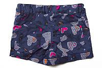 Джинсовые шорты для девочки р.128,134,140,146,152,158 SmileTime Hearts, джинс