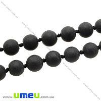 Бусина натуральный камень Шунгит, 10 мм, Круглая, 1 шт (BUS-008064)