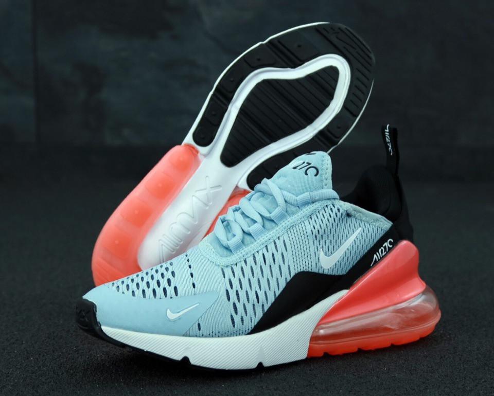 Женские кроссовки  Nike Air Max 270 Blue Red⠀(реплика)
