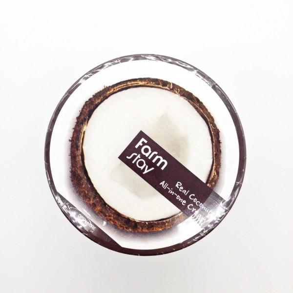 Крем для лица и тела с маслом кокоса FarmStay Real Coconut All-in-one Cream, 300ml