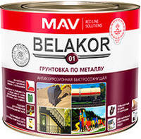 Грунтовка Belakor 01 по металлу антикоррозионная быстросохнущая (красно-коричневый) 2.4 л