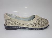 Женские кожаные летние мокасины больших размеров ТМ Allshoes, фото 1