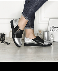 Туфли женские закрытые кожаные, размер:36-42, фото 3