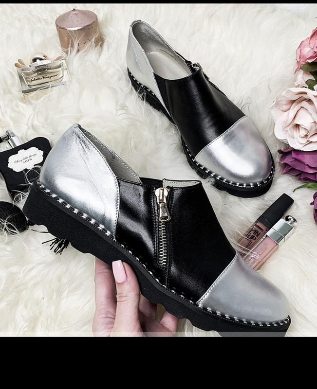 Туфли женские закрытые кожаные, размер:36-42