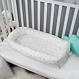 Кокон гнездышко со сьемным чехлом, бейбинест, кроватка для новорожденных, люлька, бортики в детскую кровать, фото 2