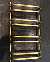 Бронзовый полотенцесушитель 500х950 Ретро Цилиндр Трапеция АЗОЦМ , фото 1