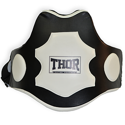 Пояс защитный для тренера THOR Trainer belt 1064 Black-white (PU) пояс для бокса и единоборств