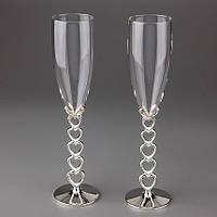 Свадебные бокалы Сердечеки 009G-3