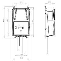 Зарядное для гелевых аккумуляторов S.P.E Elettronica Industriale CBHF2 20A, фото 2