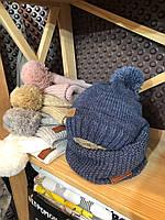 Набір Lucky - в'язана шапочка і снуд, різні кольори, розмір 42-46, 46-50, 50-54 р., фото 1